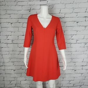Trina Turk Bright Red Fit and Flare Dress